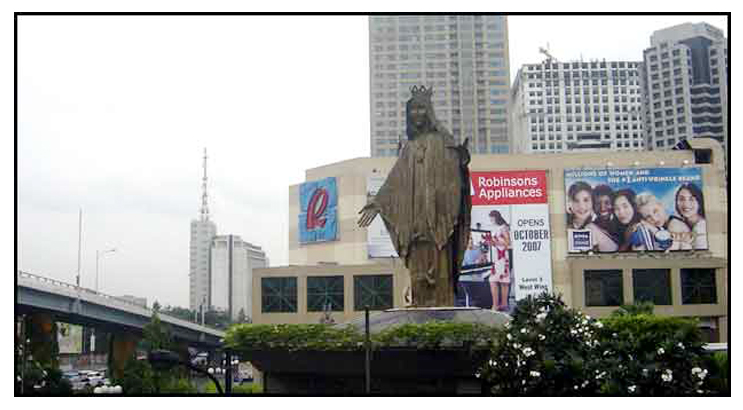 edsa shrine makikita sa edsa shrine sa panulukan ng ortigas avenue at